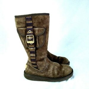 UGG 1895 Retro Cargo Women sz 6 Suede Boot 206-30